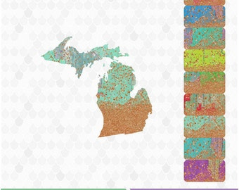 Michigan Michigan Clipart Michigan Map Michigan Outline Decal For Shops United