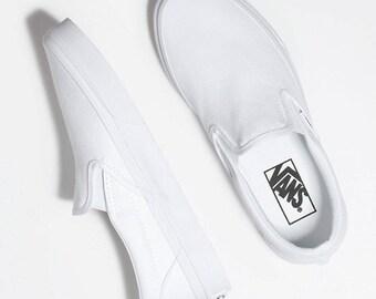 Custom Men's Women's VANS Painted VANS Shoes Wearable Art Painted Sneakers Christmas Gift Custom Slip Ons Hand Painted Shoes Custom VANS