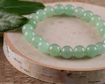 GREEN AVENTURINE Power Bracelet - Green Aventurine Bracelet, Aventurine Jewelry, Green Aventurine Stone, Natural Aventurine E0595