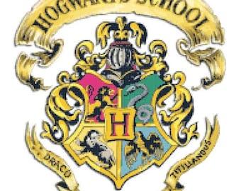 Hogwarts crest harry potter Cross Stitch Pattern potter pattern Krosssaumur - 193 x 217 stitches - INSTANT Download - B925