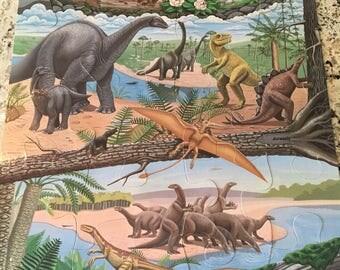 Huge Vintage Dinosaur Floor Puzzle