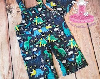 Dinosaur boy/girl dungaree/romper