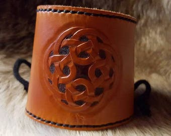 Medieval Celtic leather bracelet