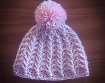 Twisted Stems Hat- MADE TO ORDER, crochet, Newborn to Adult