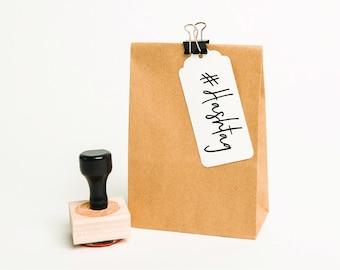 Custom Hashtag Stamp, Custom Business Stamp, Hashtag Stamp, Social Media Stamp, Packaging Stamp, Business Stamp, Company Stamp (SBIZZ105)