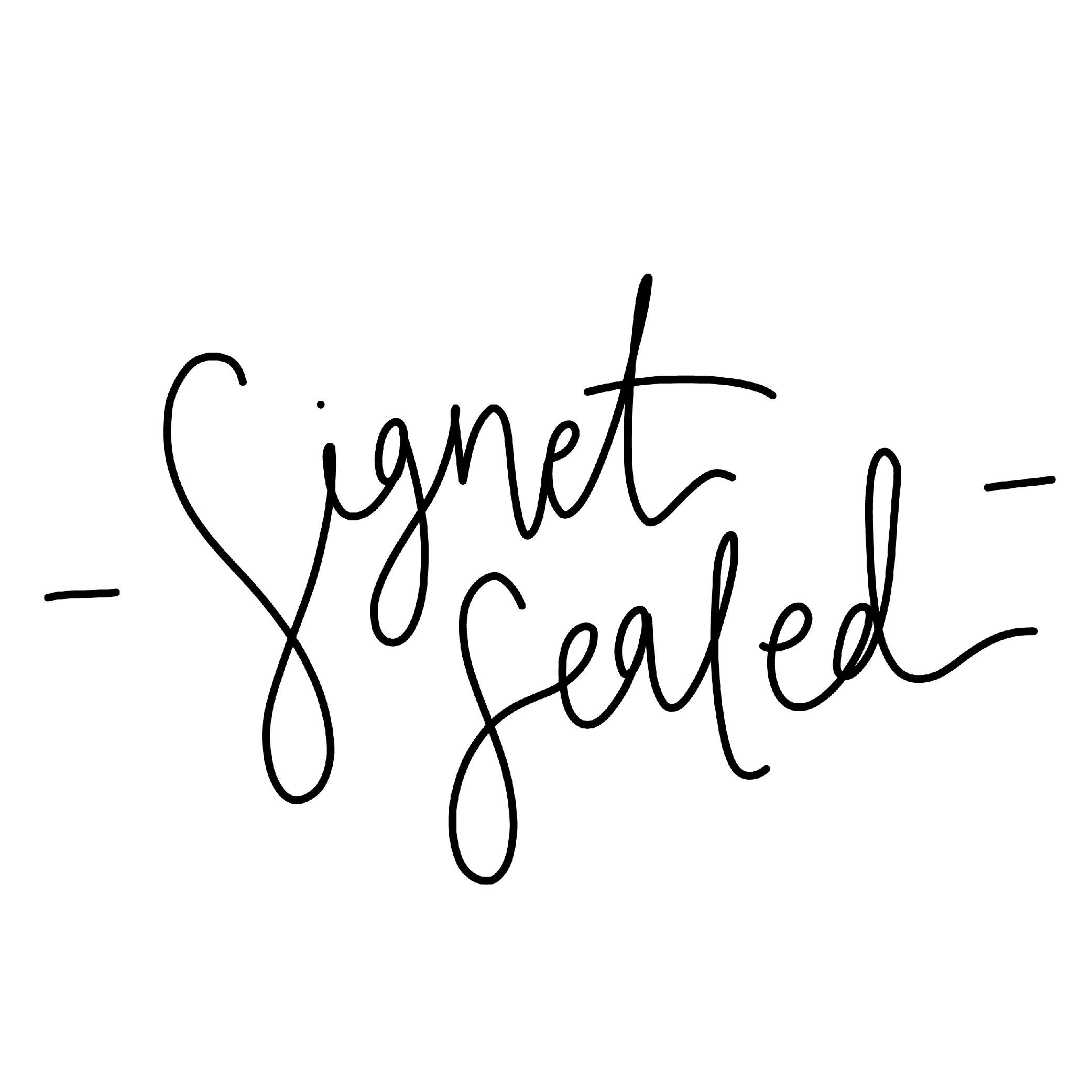 Signet Sealed Illustration por SignetSealed en Etsy