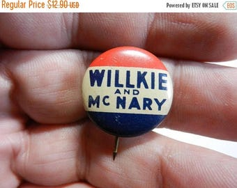 Summer Sale Vintage Willkie and McMary Political Campaign Button