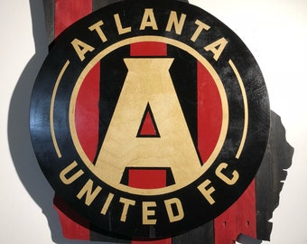 Atlanta United FC Wooden Wall Sign