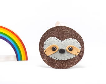 Glitter sloth decoration, sloth decoration, sloth lovers, Christmas decoration, Christmas bauble