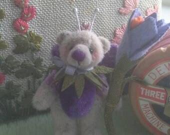SOLD**Crocus Fairy miniature teddy bear