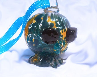 Floaty Octopus Glass ornament