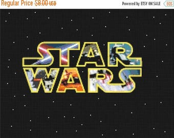 "Star wars Counted Cross Stitch Star wars Pattern point de croix embroidery needlework needlepoint  - 15.71"" x 11.79"" - L1036"