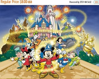 "Disney magic Counted Cross Stitch Disney magic Pattern Disney magic needlepoint kreuzstitch - 35.43"" x 26.57"" - L079"