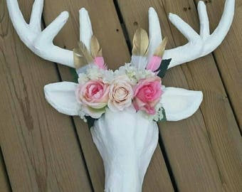 Woodland Deer, Woodland Nursery, Woodland Nursery Decor, Deer Head, Boho Decor, Woodland Animals, Boho Nursery Decor, Woodland Baby Shower