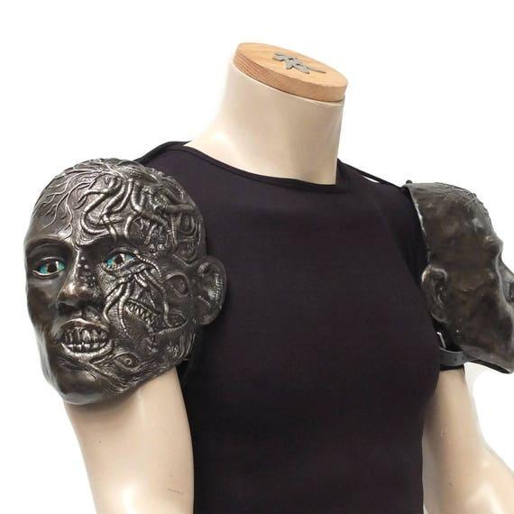 Larp Armor Fantasy Cthonic Cthulu shoulders, pauldrons, spalders, spaulders, SCA, LRP, Theatrical