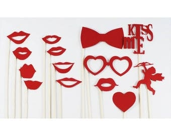 lot 13 PhotoBooth accessories Valentine