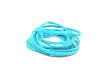 10 m Turquoise 3mm suede cord