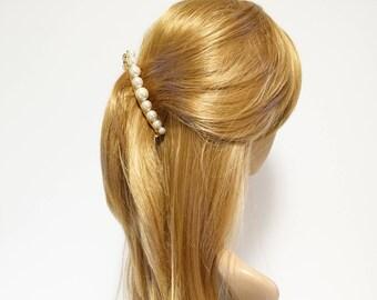 Pearl Ball Beaded French Hair Barrette Banana Hair Clip