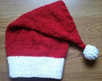 Adult Santa Hat - Sparkle yarn