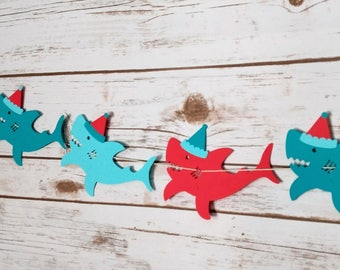 Shark Birthday Garland