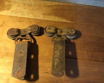 Antique Barn Door Rollers/Casters