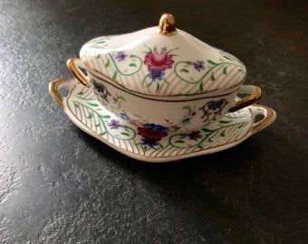 Miniature porcelain tureen