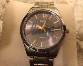 Timex T2N799 Men's Gold and Silver Watch