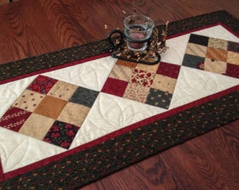 Quilted Fall Table Runner Country Nine Patch