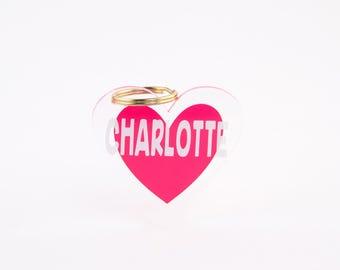 Heart Shaped OR Round Keychain (Valentine's!)
