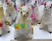 Fox Wire Farm White Alpaca Doll Keychain
