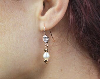Wedding Bellys earrings / pink gold earrings