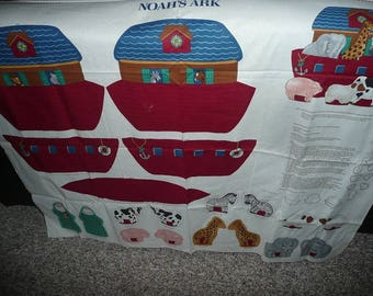 VIP Cranston Noah'a Ark Pocket Pillow Cotton Fabric Panel To Sew