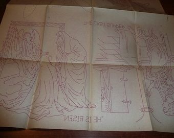 Vintage Workbasket Iron On  Religious Transfers Easter, Christmas