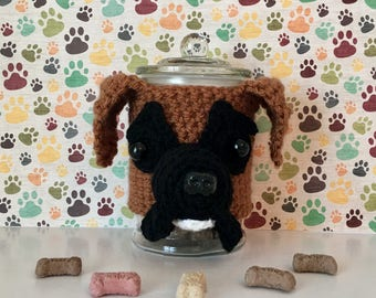 Boxer Dog - Boxer Mom - Dog Treat Jar - Funny Boxer - Crazy Dog Lady - My Kids Have Paws - Dog Mama - Fur Kids - Fur Mama - The Dogfather
