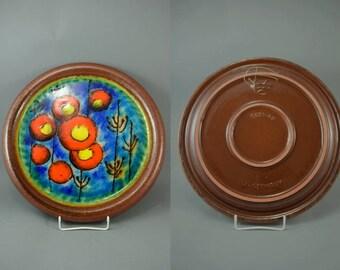 Vintage wall plate / Carstens Tönnieshof / 5921 40   West German Pottery   70s