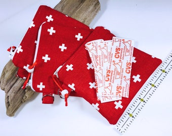 First Aid Bag, 4.25 x 4.5 Bandages Pouch, Ripstop Lining, Child's First Aid Pouch, Travel First Aid Pouch