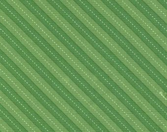 Balloon Grass Green and White Stripe by Michael Miller - DC7199-GRASS-D