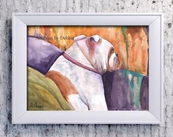 Gift For Bulldog Lover, Gift For Bulldog Owner, Gift Ideas For Bulldog Lovers, Gift For English Bulldog Lover, Abstract Bulldog Painting