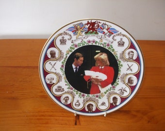 Coverswall Limited Edition vintage plate Commemorating the birth Prince Henry (Prince Harry) in 1984