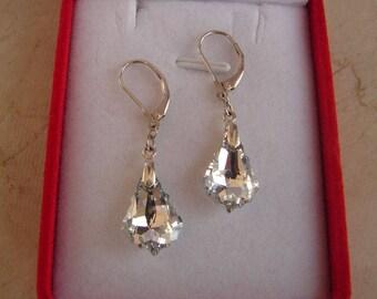 Earrings Swarovski Earring comet baroque silver Sterling 925 silver