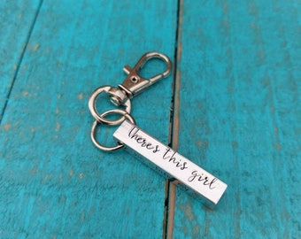 There's this girl she stole my heart she calls me daddy keychain - Father's day Gift - Gift for Dad or Stepdad - Daddy Keychain