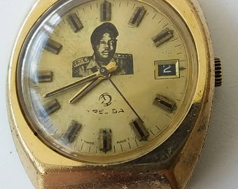 Vintage MEN'S Wrist watch TRESSA Swiss GOLD Plated automatic Work 17 jewels