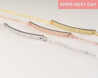 Personalized bracelet Custom name Bracelet Gold Bar Bracelet coordinate bracelet Sister bracelet best friend bracelet - 1BR