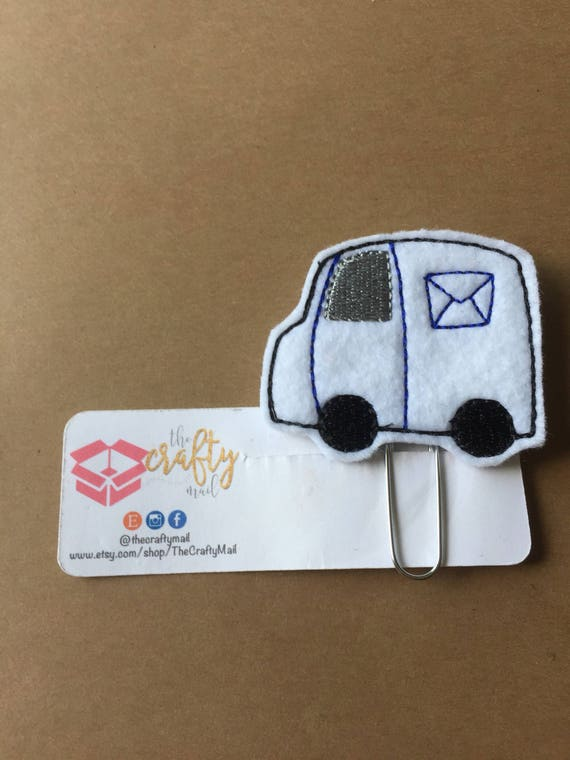 Shipping Truck Clip/Planner Clip/Bookmark. Shipping Truck planner clip.