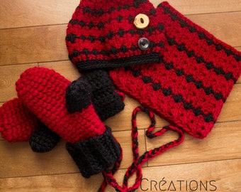 kit - messy bun - beanie - neckwarmer - mittens - wool -