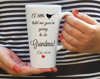 Pregnancy announcement gift, Pregnancy Announcement Grandma, Newe Grandma mugs, Pregnancy reveal gift, Pregnancy announcement mug, New baby