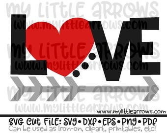 Love heart arrow svg - valentine svg - arrow svg - SVG for silhouette - SVG for Cricut - valentines day svg - cute svg