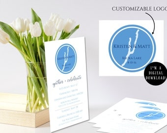 "Custom Wedding Logo: ""Ring Around Keuka"""