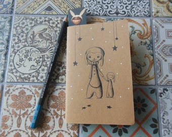 Notebook illustrated - Rabbit family