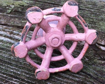 Pink Faucet Metal Drawer or Cabinet Knob  Cottage Chic Style